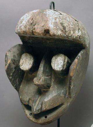 African Artifact Ceremonial Wooden Dan Guere We Fetish Mask Cote I ' Voire Ethnix photo