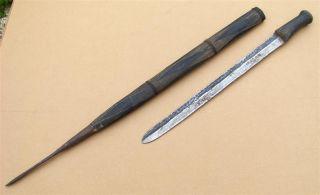 Rwanda Old African Knife Ancien Couteau D ' Afrique Tutsi Afrika Rouanda Africa photo