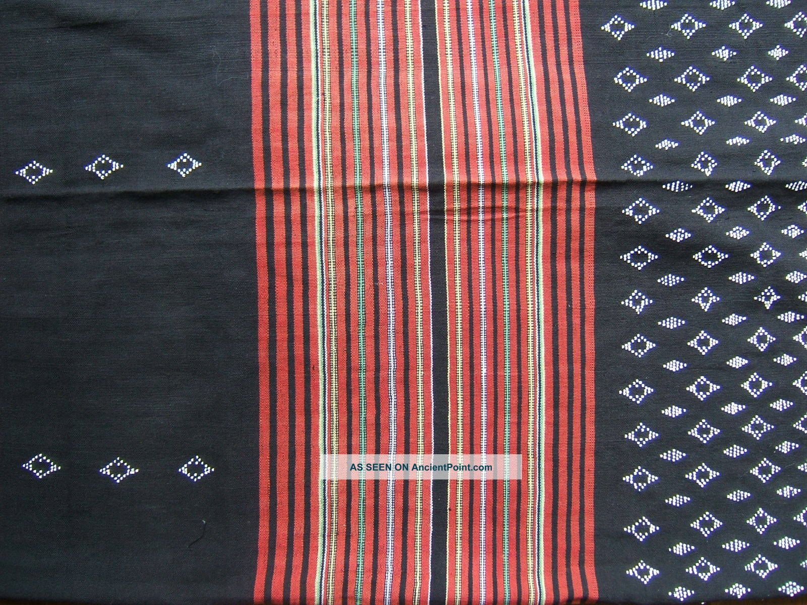 1940 ' S Northern Lao Hill Tribe Beaded Ikat Skirt Embroidery photo