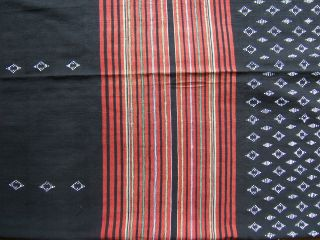 1940 ' S Northern Lao Hill Tribe Beaded Ikat Skirt photo
