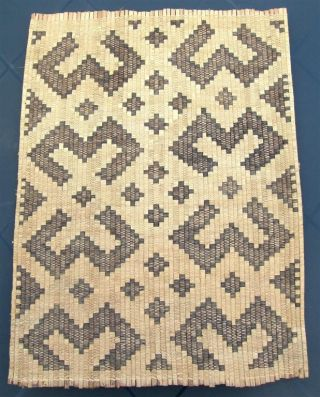 Congo Old African Textile Mat Ancien Afrique Kuba Kongo Africa Afrika Afrique photo