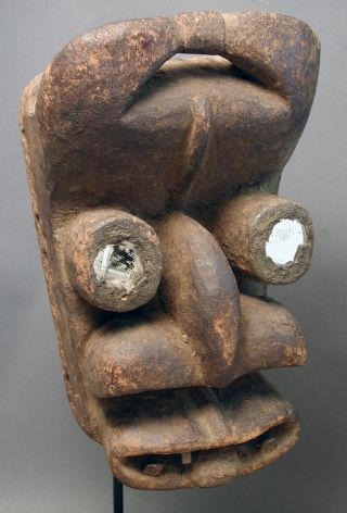African Magnificent Dangrebo Ceremonial Initiation Face Mask Cote I ' Voire Ethnix photo