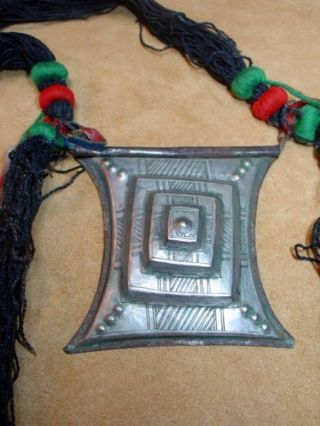 Antique Tuareg Tscherot Amulet Tribal Necklace - Niger photo