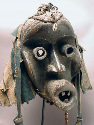 African Magnificent Dan Guere Ngere - Wobe We Fetish Mask Cote I ' Voire Ethnix photo