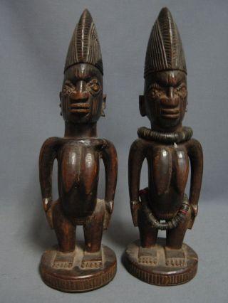 Lot 81,  Kishi Oyo Ibeji Female Pair,  Yoruba / Santeria photo