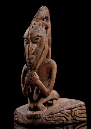 Old Male Figure From Kaireru Island,  Classic Sepic - Ramu Carving Style,  Oceanic photo