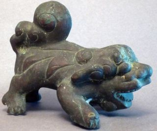 Asian Animal Foo Dog Fulions House Protection Guardian Figure Vietnam Ethnix photo
