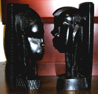 Antique African Wood Carving Sculptures Tribal Folk Art photo