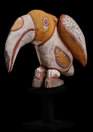 Lovely Carving Of A Hornbill - Totemic Animal Of The Abelam People; Tradition photo