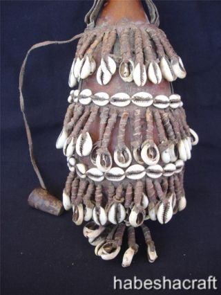 African Ethiopian Decorated Ethnic Oromo Gourd Calabash photo