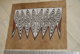 Rare Unique Perfect Geometric Tapa Lake Sentani Bark Cloth Abstract Painting 20