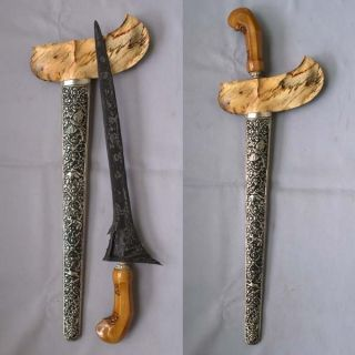 Old Straight Keris Ron Teki Kriss Kris Tangguh Pajang (16th Century),  Rk74 photo