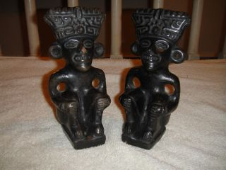 African Bookends Tribal Art Carved Sculpture - Intricate photo