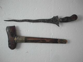 Old Keris Lombok Kidang Soka 7 Luk Kriss Kris Lo33 photo