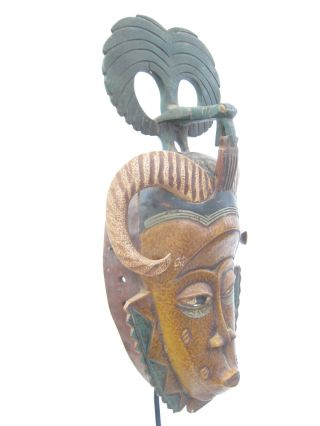 African Tribal Collection - Beautifully Stylized Guro Mask,  Cote D ' Ivoire photo