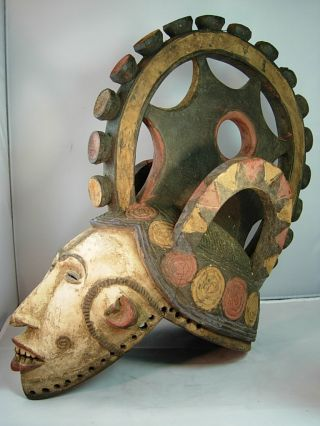 Exquiste Igbo Mmwo Spirit Maiden Mask /yoruba / Nigeria photo
