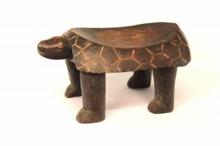 African Tribal Collection - Baule Turtle Stool Cote D ' Ivoire photo