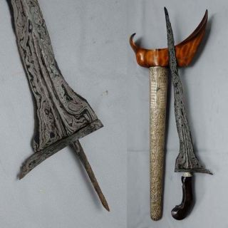 Excellent Old Keris Cirebon 5 Luk Kriss Kris Pamor Tirto Tejo Rk46 photo