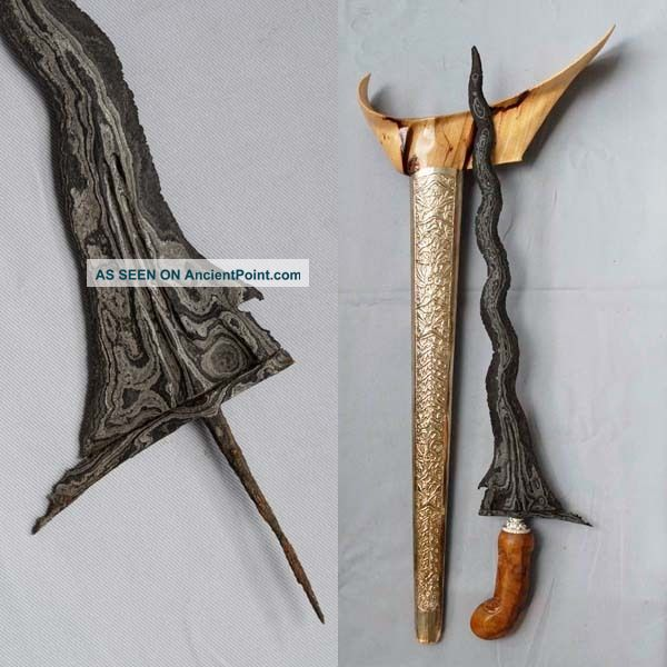 Old Keris Sabuk Inten 11 Luk Kriss Kris Mataram Sultan Agung Rl46 Pacific Islands & Oceania photo