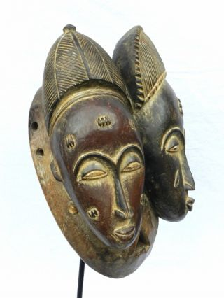 ☆☆☆☆☆ African Baule Tribe Janus Twin Mask - Www.  Wildbushgallery.  Com photo