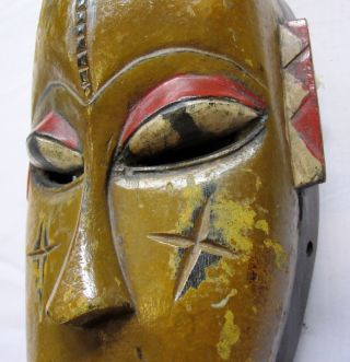 Tribal Carved African Baule Mask - Ivory Coast From Private Collection. photo