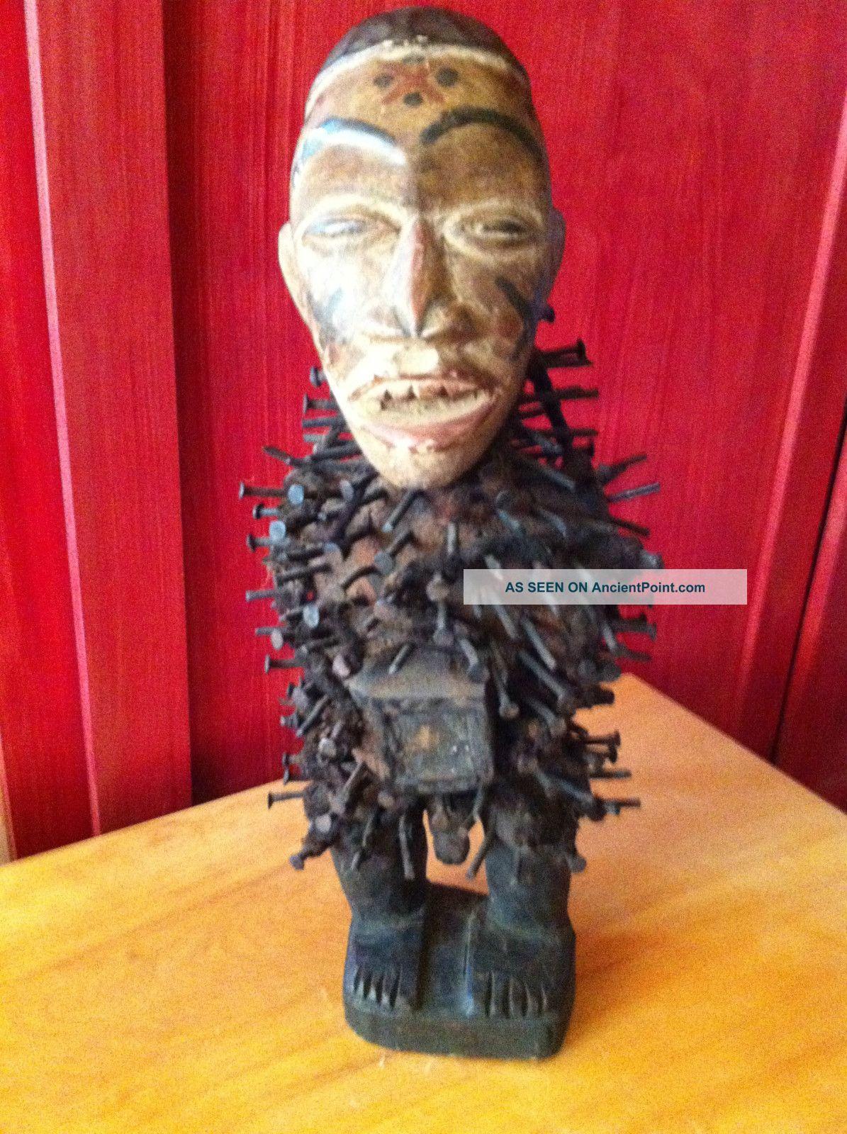 Rare Old Nkisi Nkondi Nail Fetish Sculptures & Statues photo