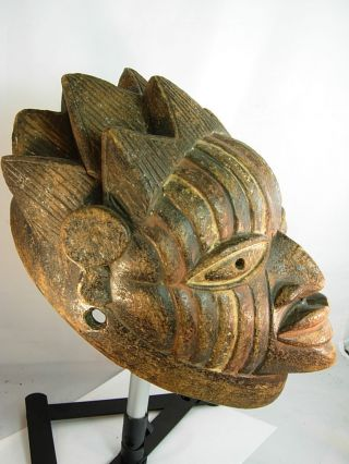 Exquiste Yoruba Mask With Intricately Carved Coiffure,  Yoruba / Santeria / Ifa photo