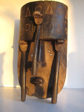 Vary Rare And Unusual Tribally Grebo Mask,  Liberia photo