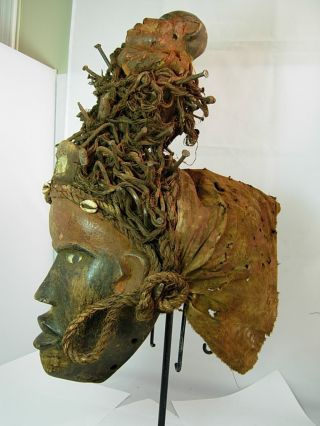 Outstanding Bakongo Witch Doctor Headdress,  Congo,  Palo,  Eggun / Palo Mayombe photo