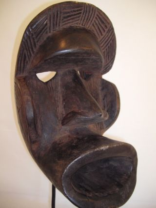 African Dan Kran Mask Ivory Coast Mid 20th Century photo