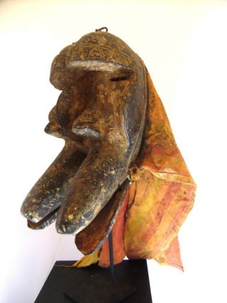 ☆☆☆☆☆ African Grebo Tribe Double Animal Mask,  Liberia photo