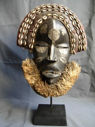 Lot 200,  Dan Poro Society Ceremonial Mask On Custom Stand,  Liberia photo
