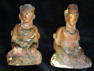Figures Rare Pair Sultan And Wife Couple Java Royal Indonesia Keris photo