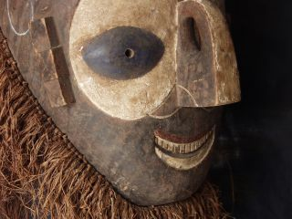 Antique African Mid - Century Yaka Tribal Ritual Dance Mask Sculpture Art Carving photo
