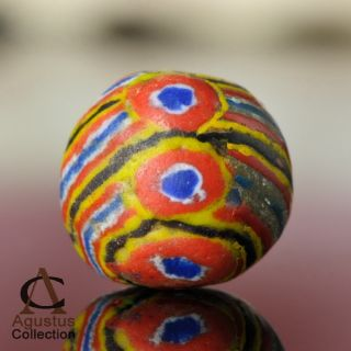 Rare Antique Powder Glass Kiffa Bead Mauritania Africa Over 100 Years Old 15+mm photo