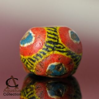 Rare Antique Powder Glass Kiffa Bead Mauritania Africa Over 100 Years Old 9+mm photo