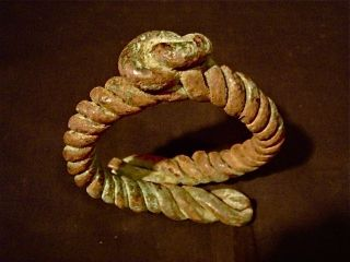 African Tribal Yoruba Bronze Bracelet,  Currency,  Jewelry,  Old Ethnographic Art photo