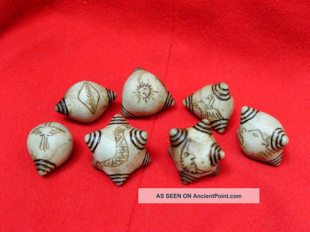 Set 7 Blessed Shaman Prosperity Healing Chumpi Stones Latin American photo