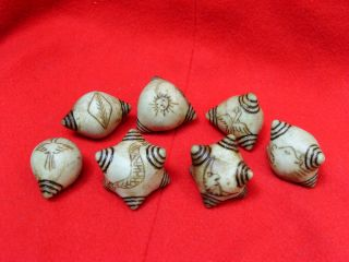 Set 7 Blessed Shaman Prosperity Healing Chumpi Stones photo
