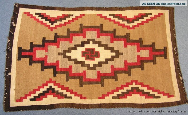 Antique Early Large Native American Indian Navajo Rug Circa 1910 Native American photo