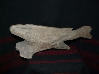 Fine Kuna Panama Indian Carved Wooden Whale photo