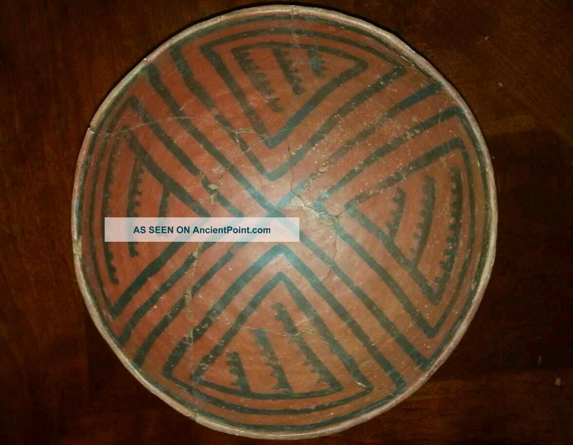 Anasazi Pottery,  Puerco Black On Red Bowl Native American photo