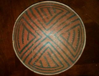 Anasazi Pottery,  Puerco Black On Red Bowl photo