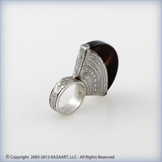 Tuareg Touareg Silver And Carnelian Ring Mali photo