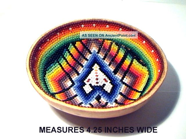 Kayapo Amazon People Hand Made Beaded Gord Bowl South America Brazil Mint Condit Latin American photo