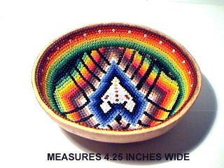 Kayapo Amazon People Hand Made Beaded Gord Bowl South America Brazil Mint Condit photo
