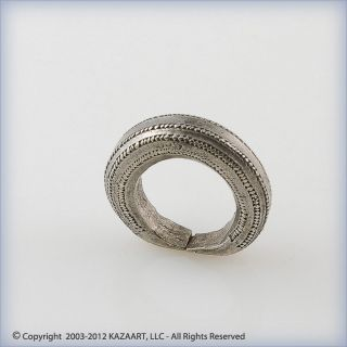 Old Fulani Peul Traditional Silver Ring Or Pendant With Design Mali photo