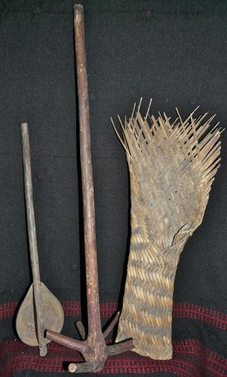 Kuna Panama Indian Carved Food Utensils/implements photo