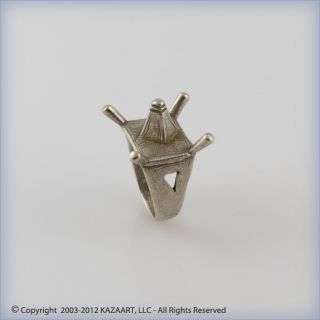 Old Tribally Tuareg Silver Amulet Ring Of Camel Saddle Niger photo