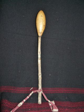 Unusual Kuna Panama Indian Gourd Rattle photo